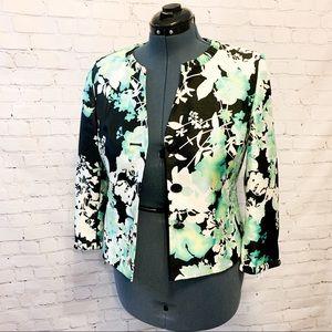 Beautiful Floral Button Up Blazer